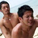 【ゲイ動画 pornhub】またこような!ラブラブ旅行でイチャラブゲイセックスをするワイルド系イケメンBLカップルの濃厚青姦!