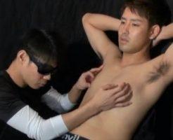 【ゲイ動画 pornhub】ノンケの素人イケメンを兄貴のテクでガン勃ちさせてイかせる!