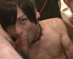 【ゲイ動画 pornhub】ザーメン塗れになりながらガン掘りされるジャニ系イケメン!