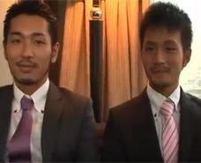 【ゲイ動画 xvideos】スーツの似合う二人が蕩ける様なキスから始まる大人の絡み合い!