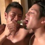 【ゲイ動画 pornhub】夜景が素敵なホテルで楽しそうに裸で微笑む2人が交わすキスが素敵